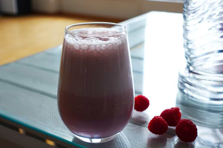 Low Carb Himbeer-Protein-Shake