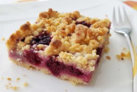 Low Carb Kirschstreusel.